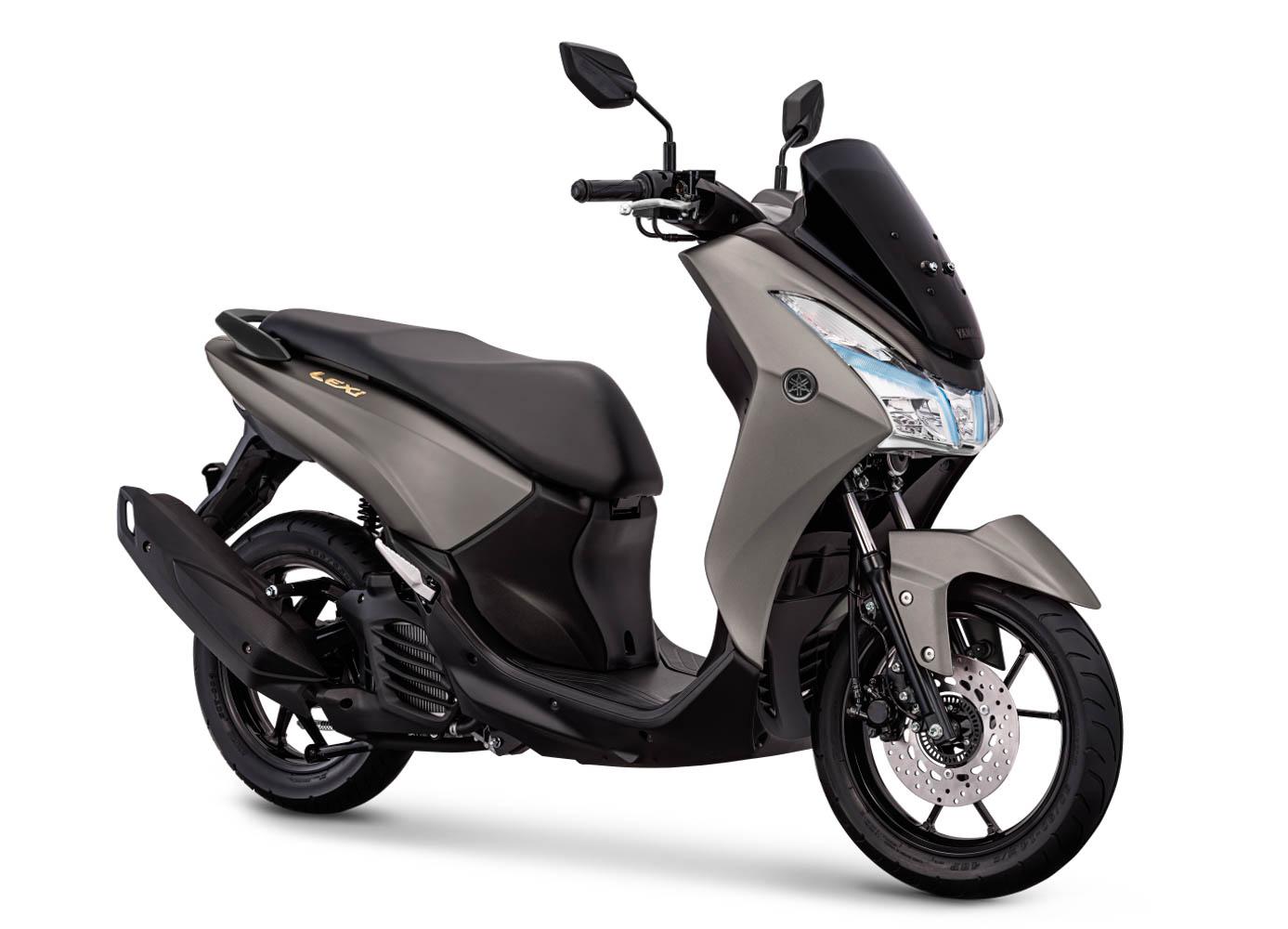 Yamaha Indonesia segarkan emblem Lexi 125, jadi warna emas !