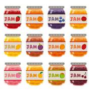 いろいろなジャムのイラスト
