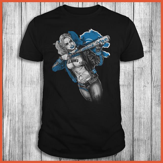 Detroit Lions Harley Quinn T-Shirt