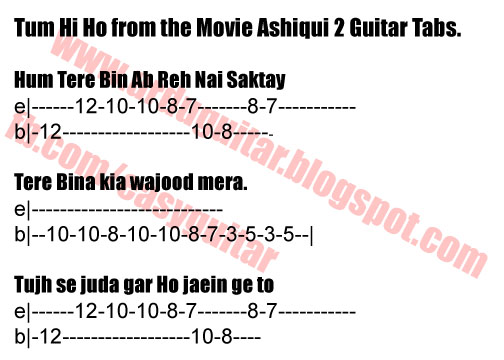 Guitar guitar melody tabs : Easy Learn To Play Guitar: Tum Hi Ho - Ashiqui 2 - Guitar Tabs