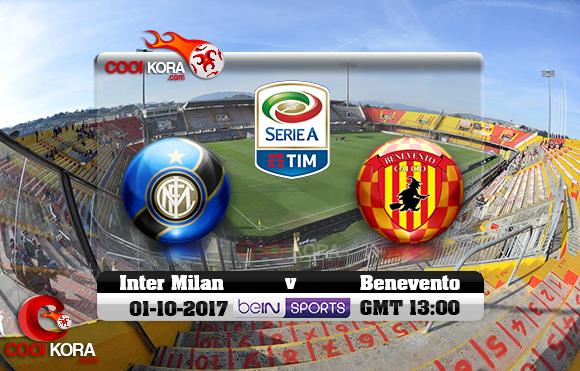 مشاهدة مباراة بينفينتو وإنتر ميلان اليوم 1-10-2017 في الدوري الإيطالي