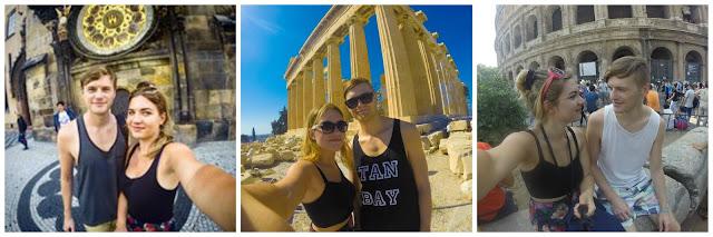 selfies around europe