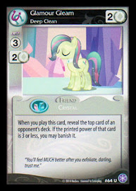 My Little Pony Glamour Gleam, Deep Clean The Crystal Games CCG Card