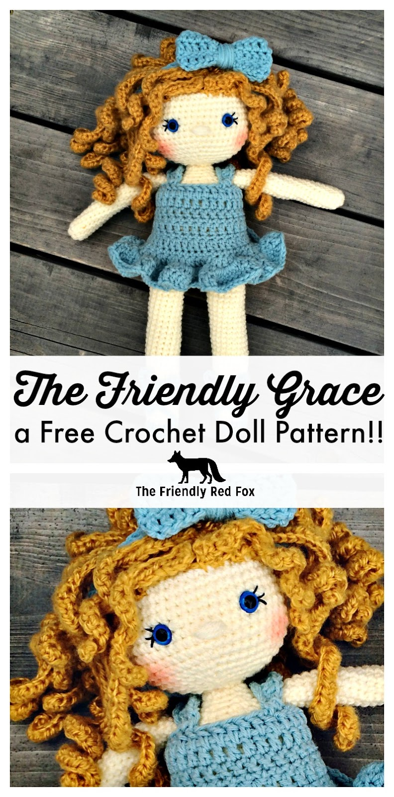 free crochet amigurumi doll pattern with removable dress. | SEEWWW ... | 1600x792
