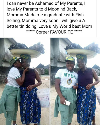 Female Corper: 'My Mother Made Me A Graduate With Fish Selling'