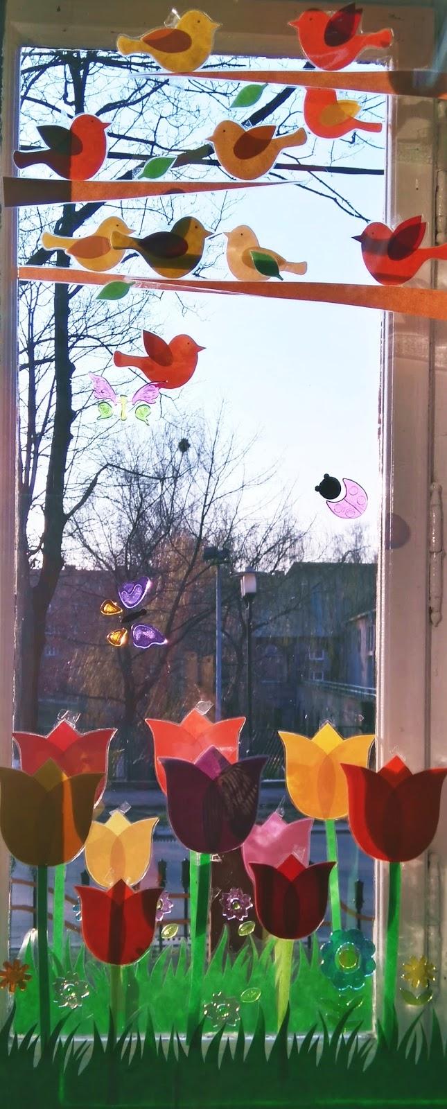Wiosenne Dekoracje Na Okno Paidagog