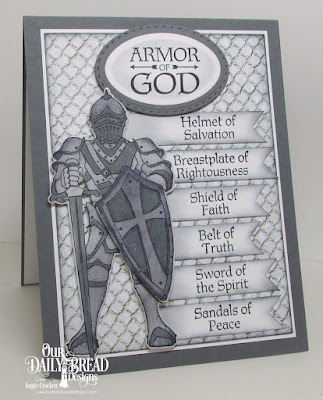 ODBD Full Armor, ODBD Armor of God, ODBD Custom Suit of Armor Dies, ODBD Custom Double Stitched Rectangles Dies, ODBD Custom Stitched Ovals Dies, ODBD Nautical Paper Collection, Card Designer Angie Crockett