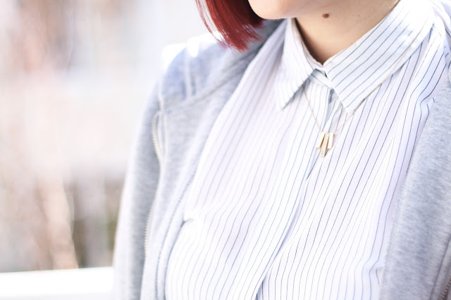 Rocksbox jewelry, outfit details, zara shirt, affordable fashion