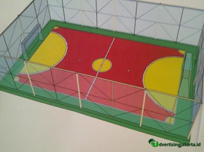 Ukuran dan pengecatan Standar Lapangan Futsal