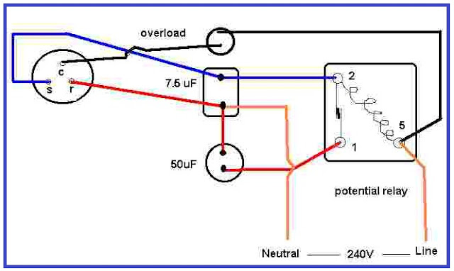 kickstart potential relay wiring diagram electrical wiring diagram Single Phase Compressor Wiring Diagram