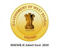 MSCWB JE Admit Card