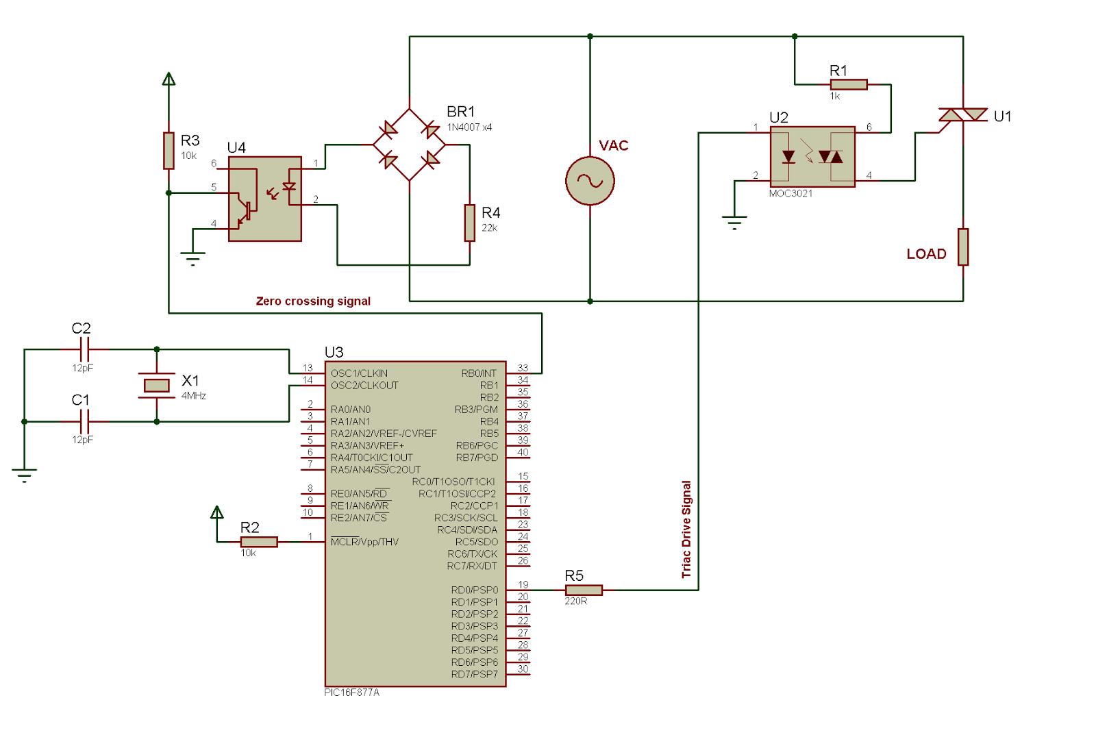 medium resolution of circuit diagram of ac power control with thyristor using pic wiring diagram show