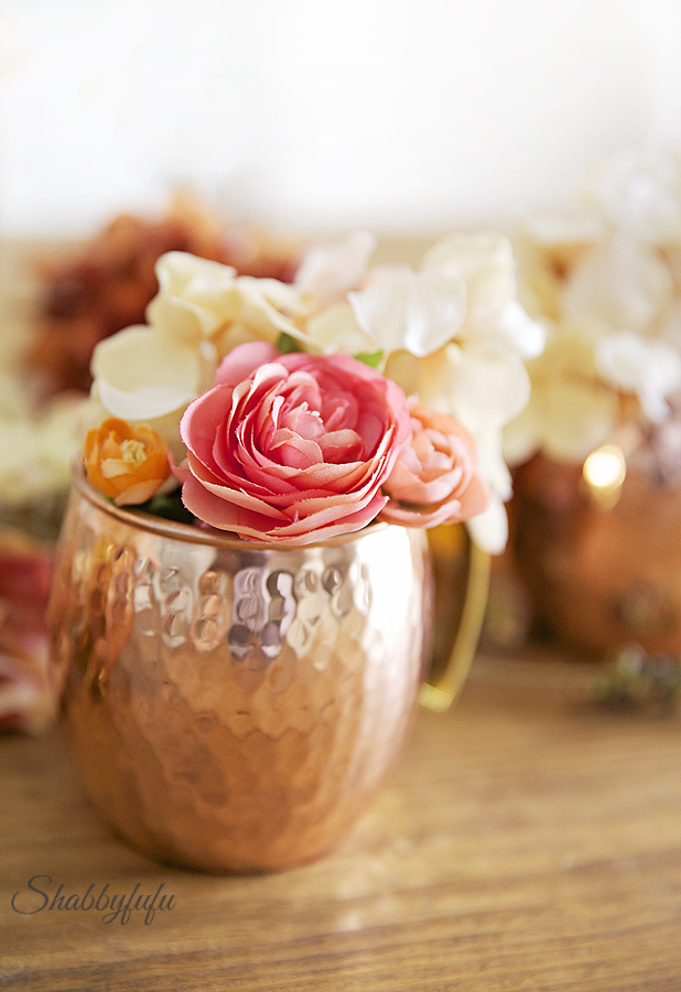 moscow mule mug with flowers