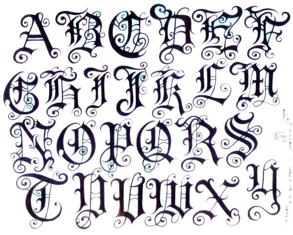 Tattoo Fonts: Tattoo Design: Tattoo Fonts Style