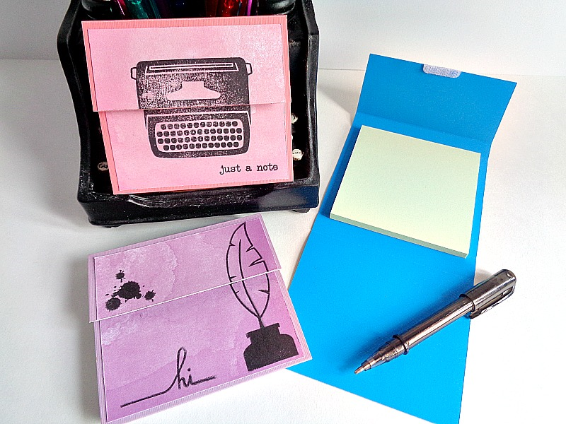 Running With A Glue Gun: DIY: Post-it Notes Holder