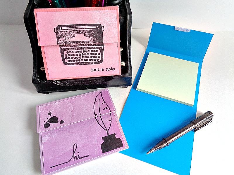 Running With A Glue Gun: DIY: Post-it Notes Holder