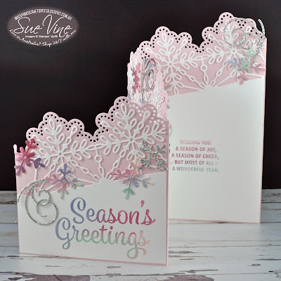 Snowflake Sentiments z-Fold card Video Tutorial