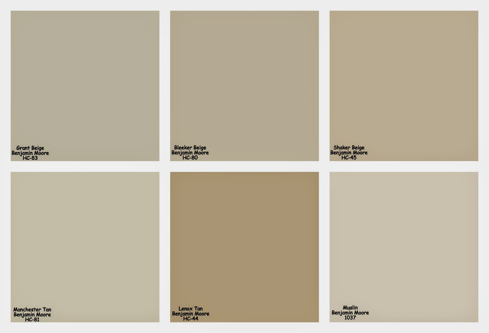 Here Are All The Shades Of Beige I Considered Putting Them Side By Like This Helped Me Compare Intensity And Tone For Example It Was Pretty Easy To
