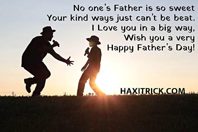 Wish you a very Happy Father's Day Quotes SMS Image in English