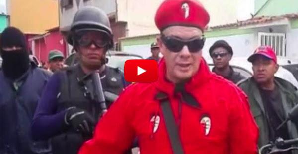 Valentín Santana y los colectivos amenazan con sus armas y capuchas