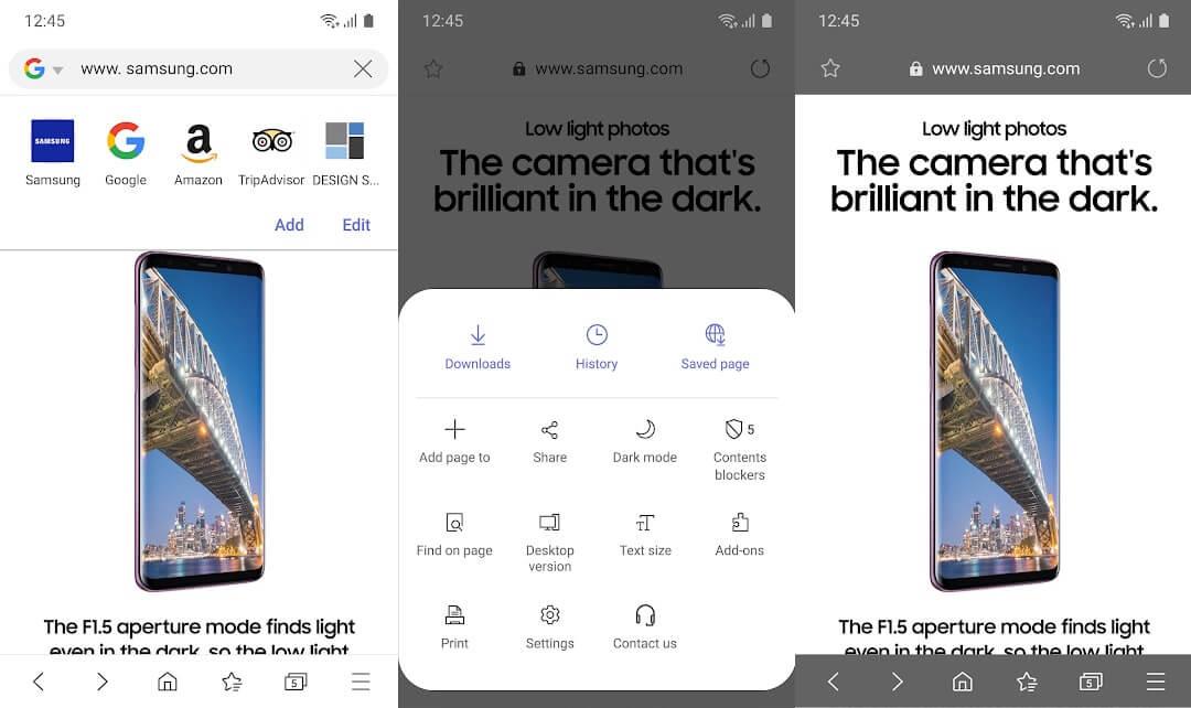 10 Aplikasi Browser Android Terbaik - Samsung Internet