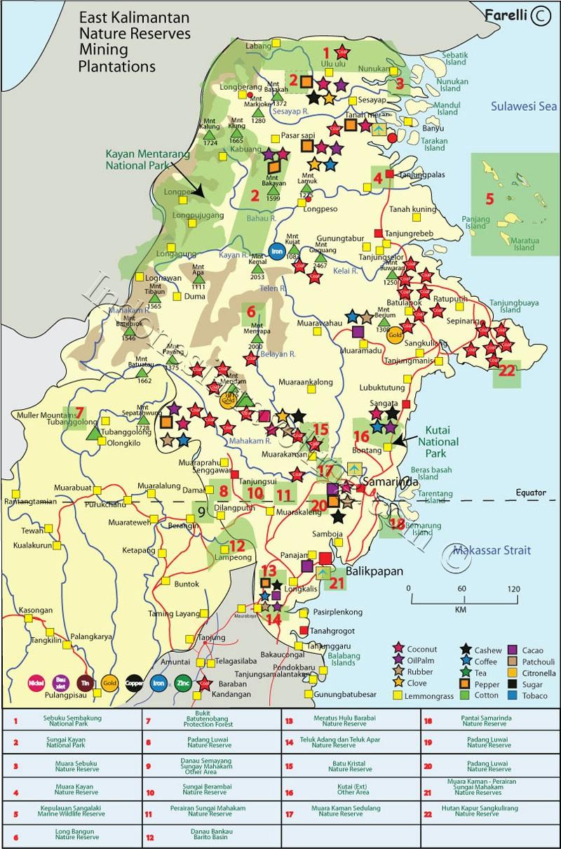 AMAZING INDONESIA: East Kalimantan Map