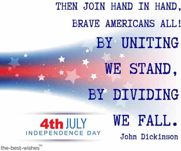 happy july 4th images and quotes by john dickinson