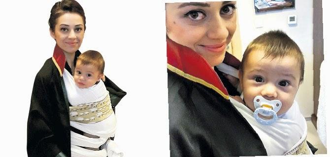 Av. Feyza Altun Meriç ve bebeği