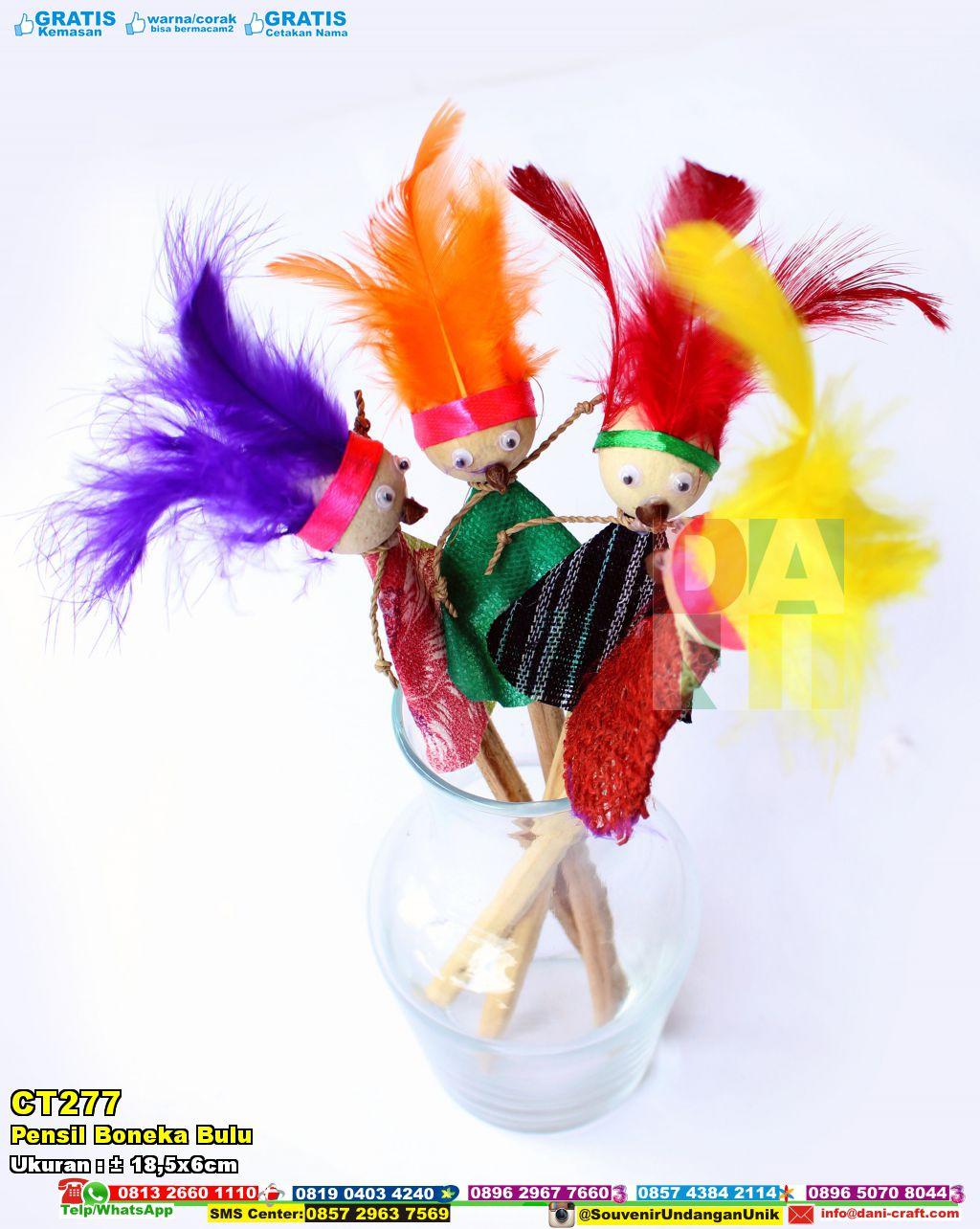 Pensil Boneka Bulu  Souvenir Pernikahan