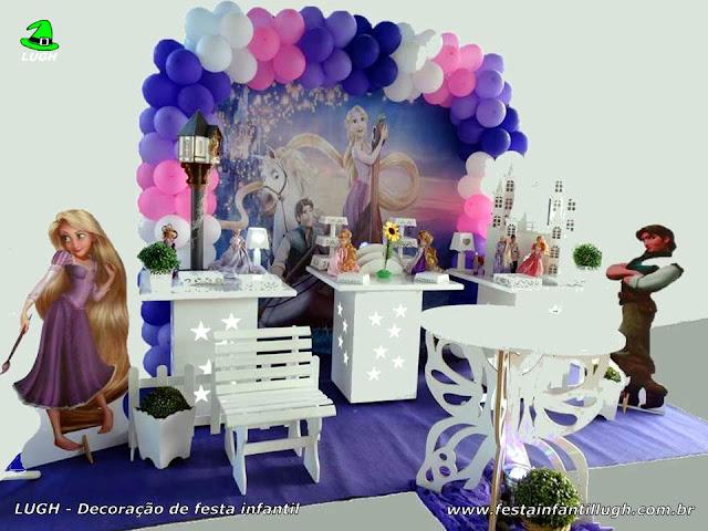 Decoração Princesa Rapunzel - Os Enrolados - festa infantil - provençal