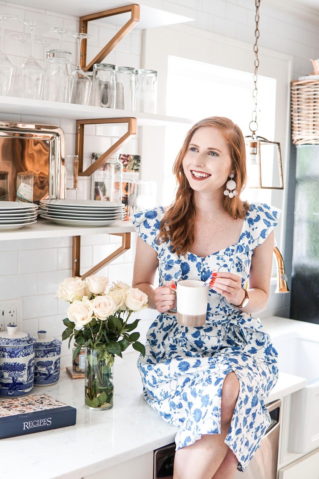 gal meets glam olivia dress kitchen look