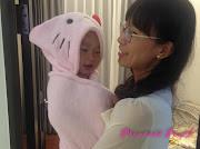 茉莉的粉kitty浴袍