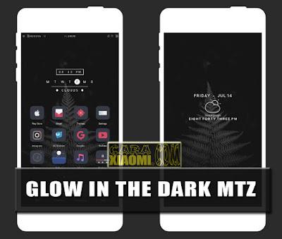 Tema For MIUI Mod Glow in The Dark v1.0 Mtz New Version