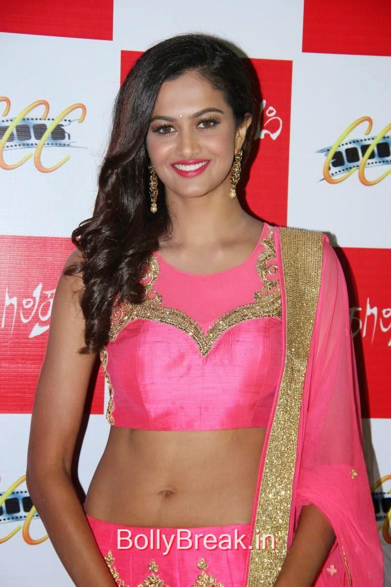 Shubra Aiyappa Photos, Shubra Aiyappa Latest Hot Pics In Pink Lehenga from Sagaptham Movie Audio Launch