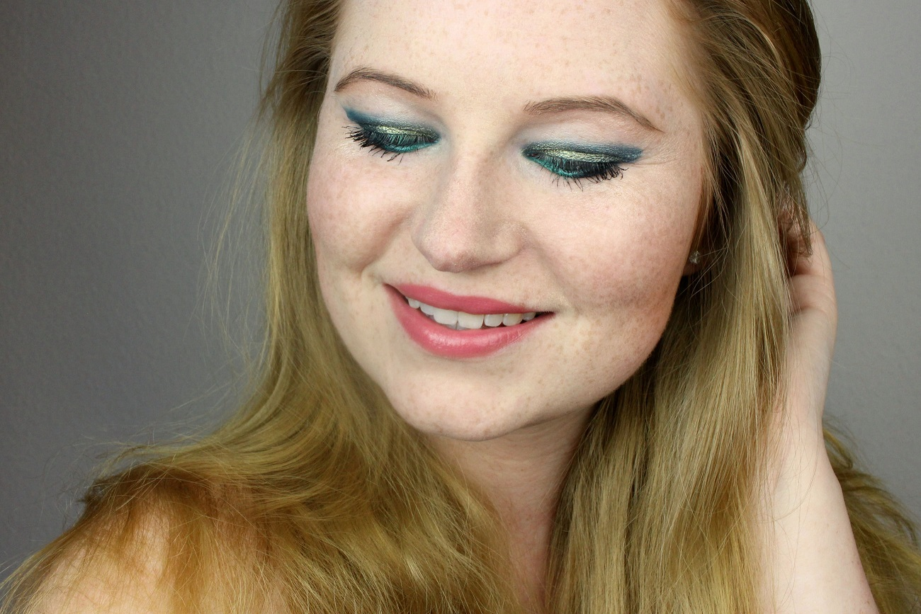 yves rocher, blogparade, #beachpartylook, like a mermaid, look, amu, party, green eyes, lidschatten, kajal, beach party, lipbalm, beauty, cosmetics, meerjungfrau, türkisblau, eyeshadow, eyeliner, make-up,