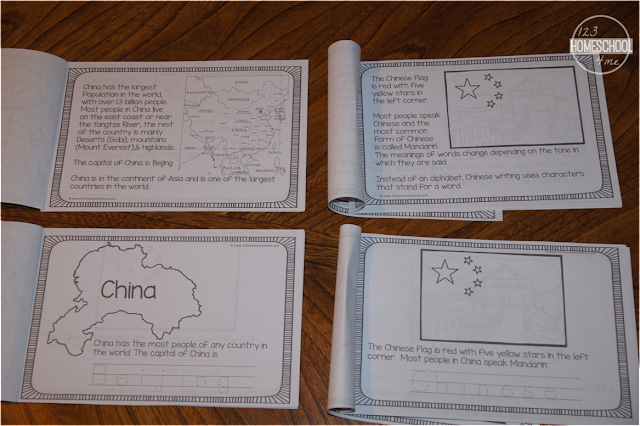 2 versions of printable china worksheets