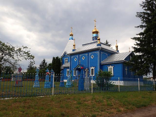 Cerkiew w którejś z wiosek Polesia