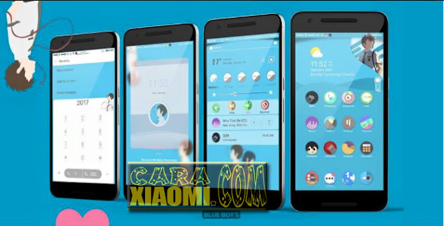 Download Theme MIUI Couple Theme CoolBlue dan SweetPink For Xiaomi
