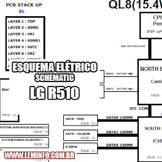 Esquema Elétrico Notebook Laptop Notebook LG R510 Manual de Serviço  Service Manual schematic Diagram Notebook Laptop LG R510    Esquematico Notebook Laptop LG R510