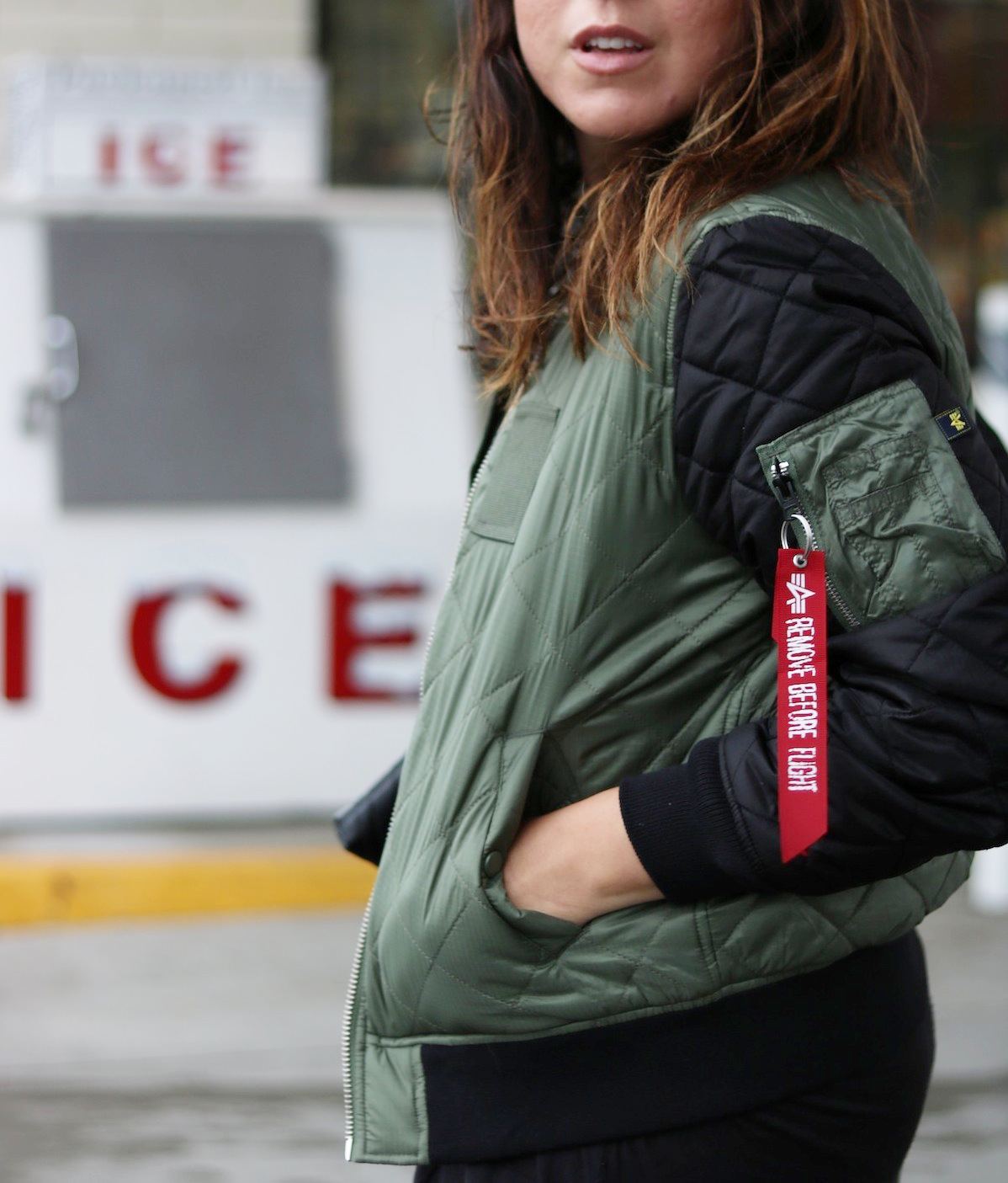 Alpha Industries bomber jacket outfit vancouver fashion blogger Native Shoes Fitzsimmons Treklite boots