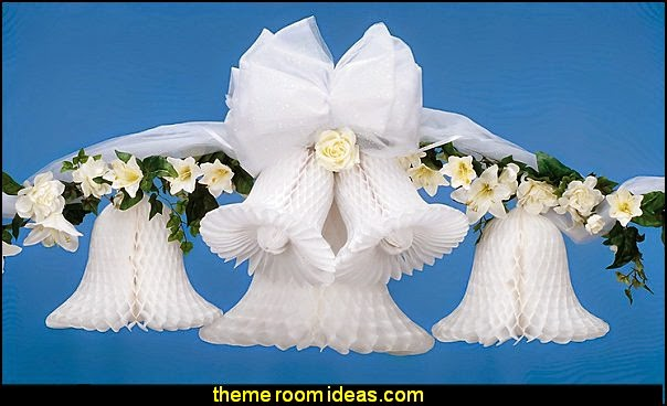 Tissue Paper Bell Wedding decorations - bridal bouquets - wedding decorating props