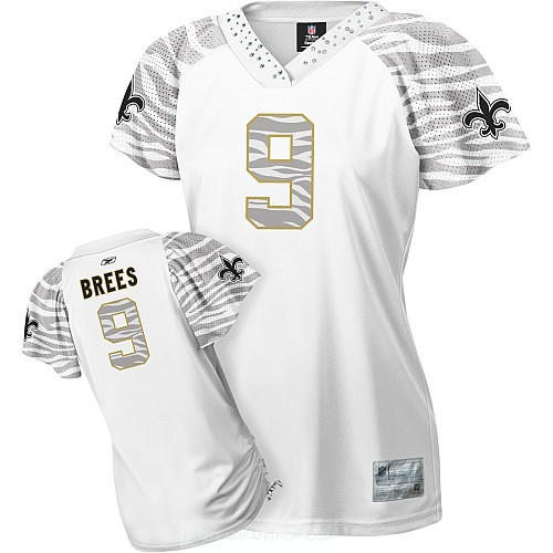 ... New Orleans Saints 9 Drew Brees White Womens Zebra Jersey If you worry  about the shipping . 6543c15da