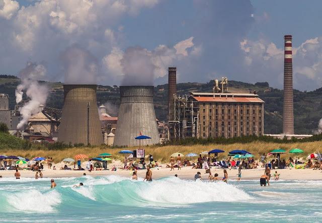 la spiaggia caraibica Rosignano Solvay
