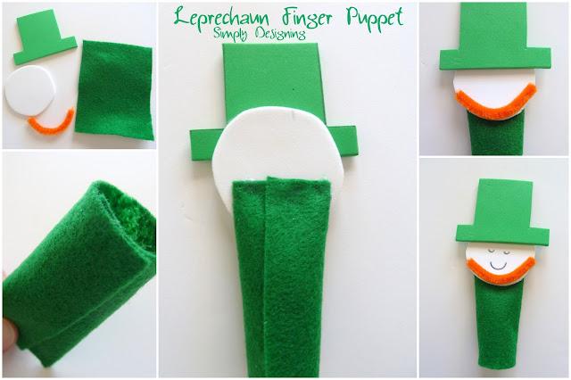 Leprechaun+Finger+Puppet+Collage+1a Leprechaun Finger Puppets 10