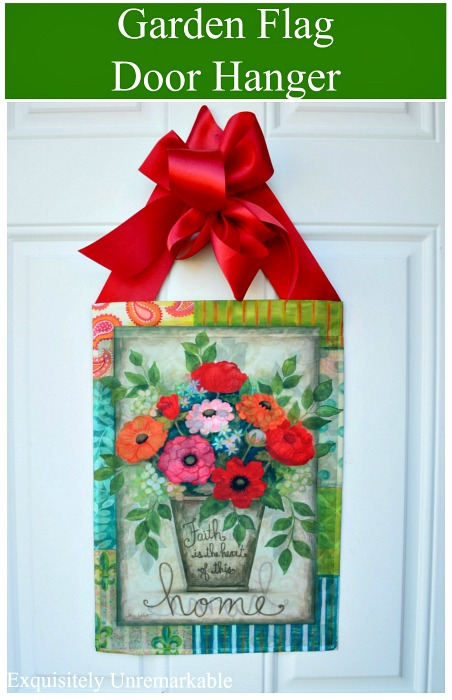 Garden Flag Door Hanger DIY