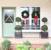 My favorite faux topiary for Outside
