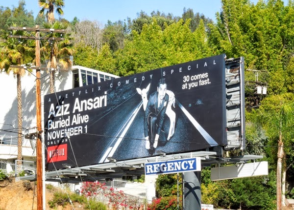 Aziz Ansari Buried Alive billboard