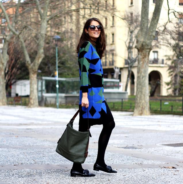 Un vestido muy de invierno
