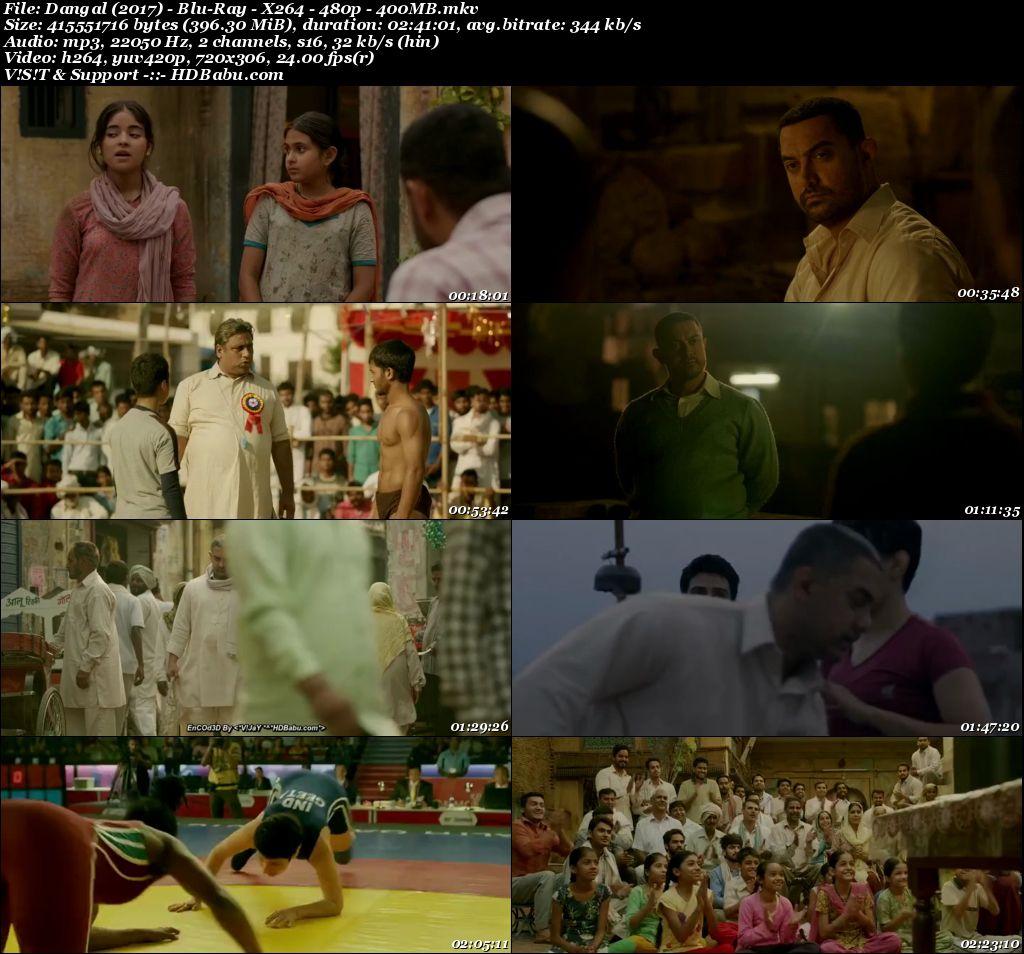 Dangal (2017) - Blu-Ray - X264 - 480p - 400 MB Screenshot