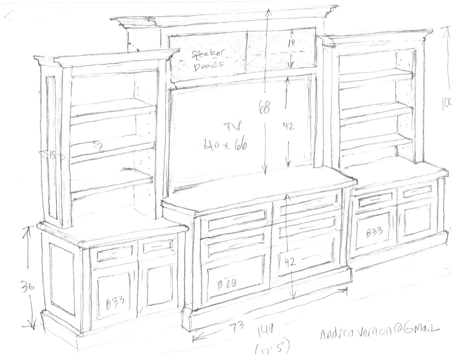 Vernon Volumes Built In Wall Unit And Sofa Table
